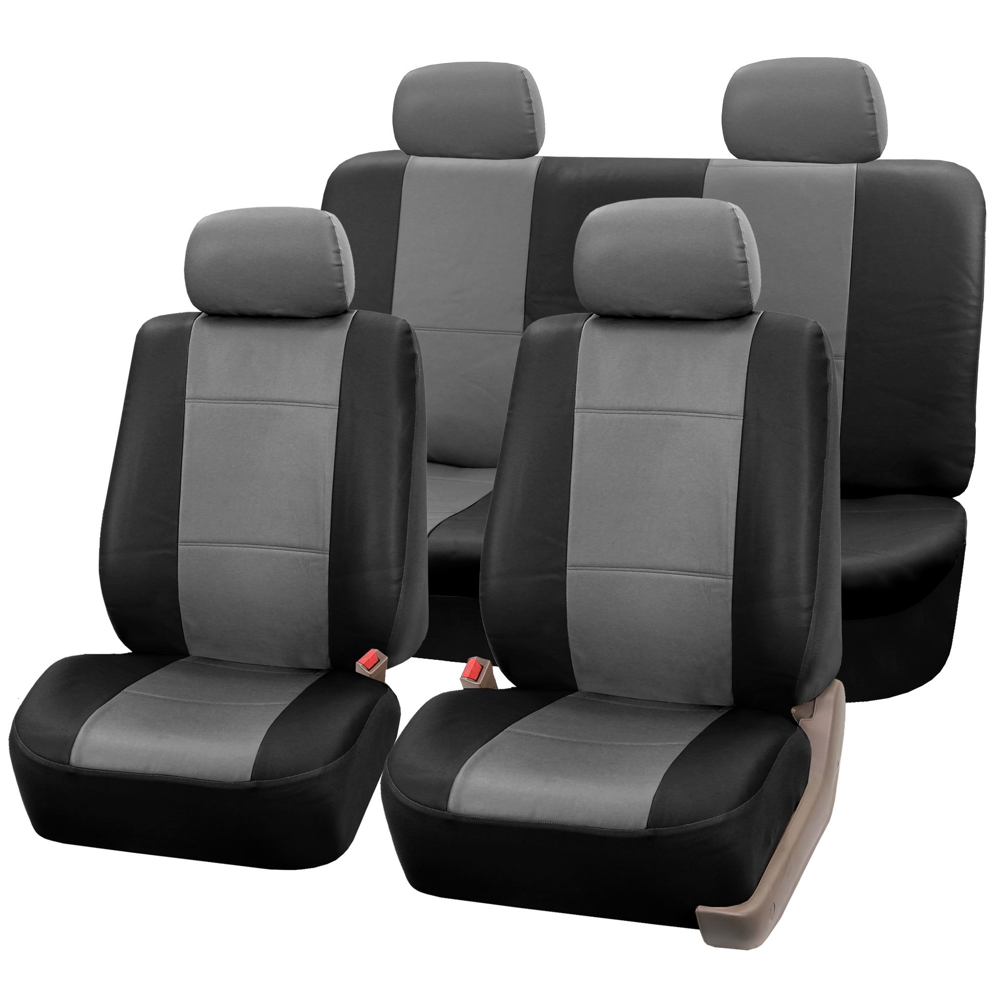 chair covers for headrest office under 300 pu leather bucket seat full set seats with