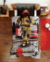 New Firefighter Boys Photo-Realistic 2-pc Comforter Sham ...