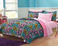 NEW Neon Leopard Teen Girls Bedding Comforter Sheet Set | eBay