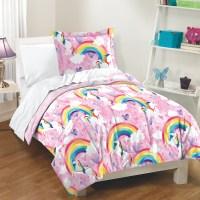 Unicorn Rainbow Girls Pink 200 TC 100% Cotton Comforter ...