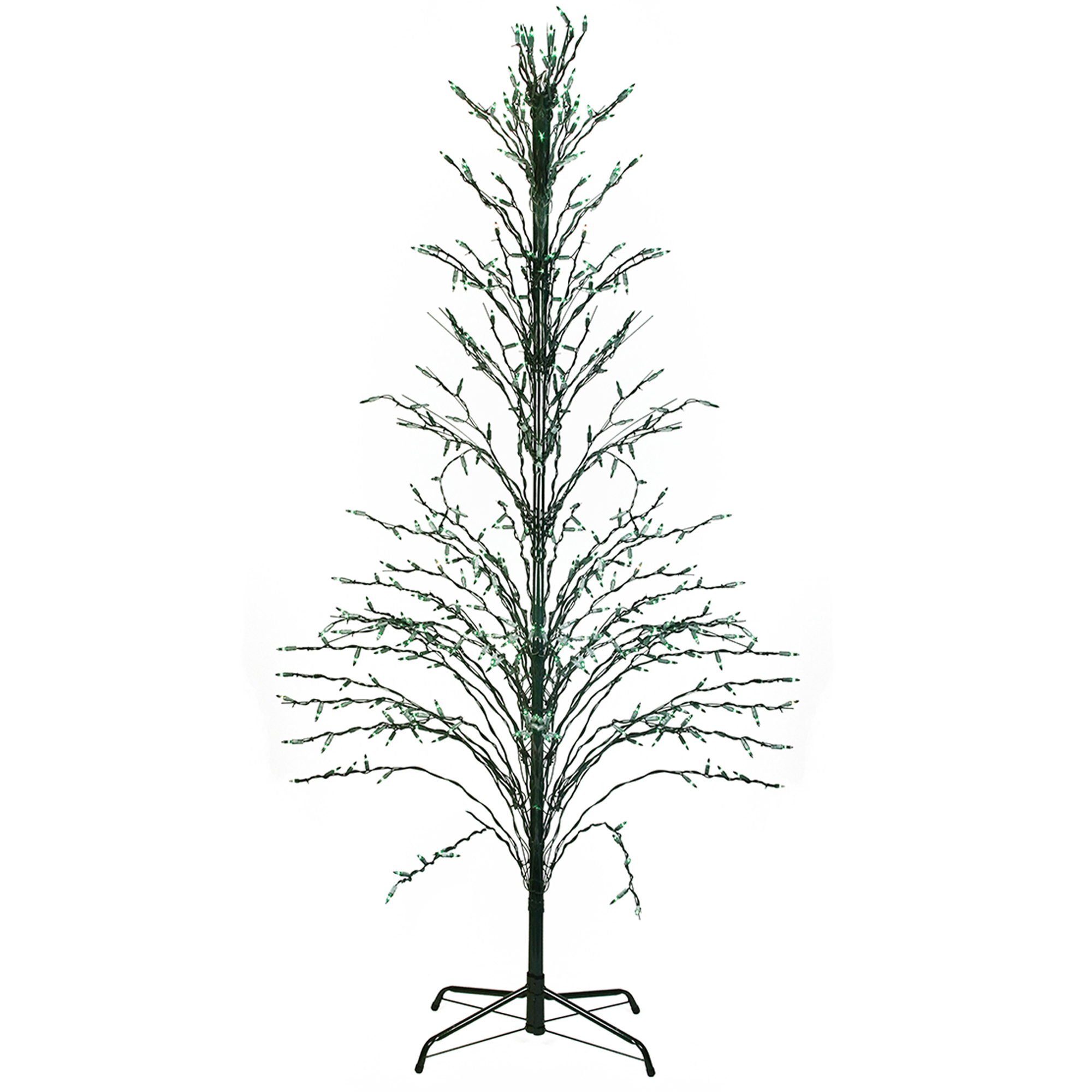 Northlight 6' Green Lighted Christmas Cascade Twig Tree