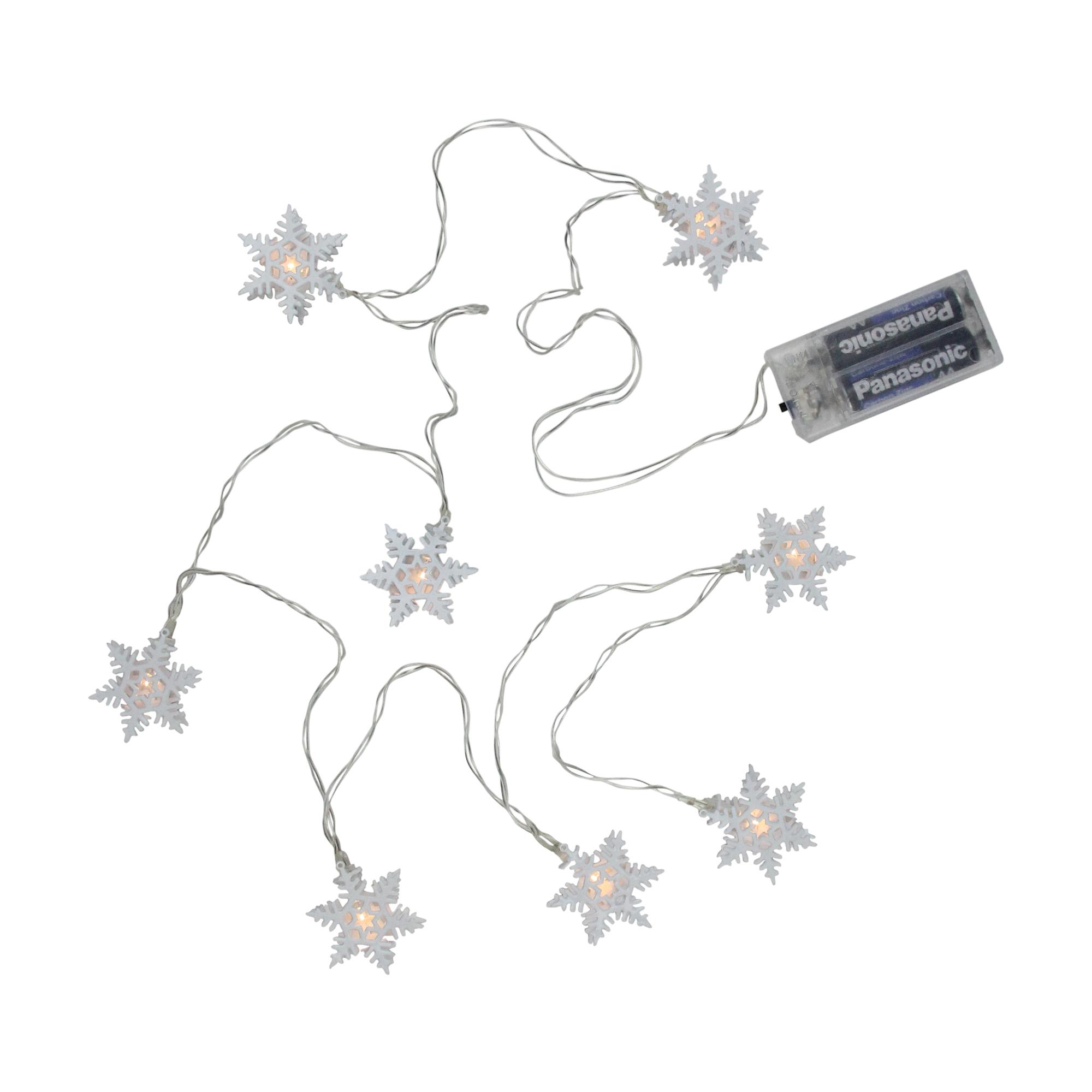 Northlight 8ct Bulb LED Snowflake Metal Cap Patio String