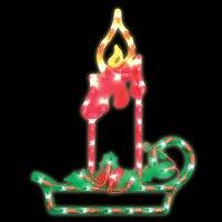 CHRISTMAS Candle Window LIGHT Decor INDOOR OUTDOOR