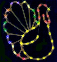 Thanksgiving Lighted TURKEY Window Decor INDOOROUTDOOR | eBay