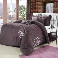Cheila Purple, Silver, Plum 8 Piece Comforter Bed In A Bag