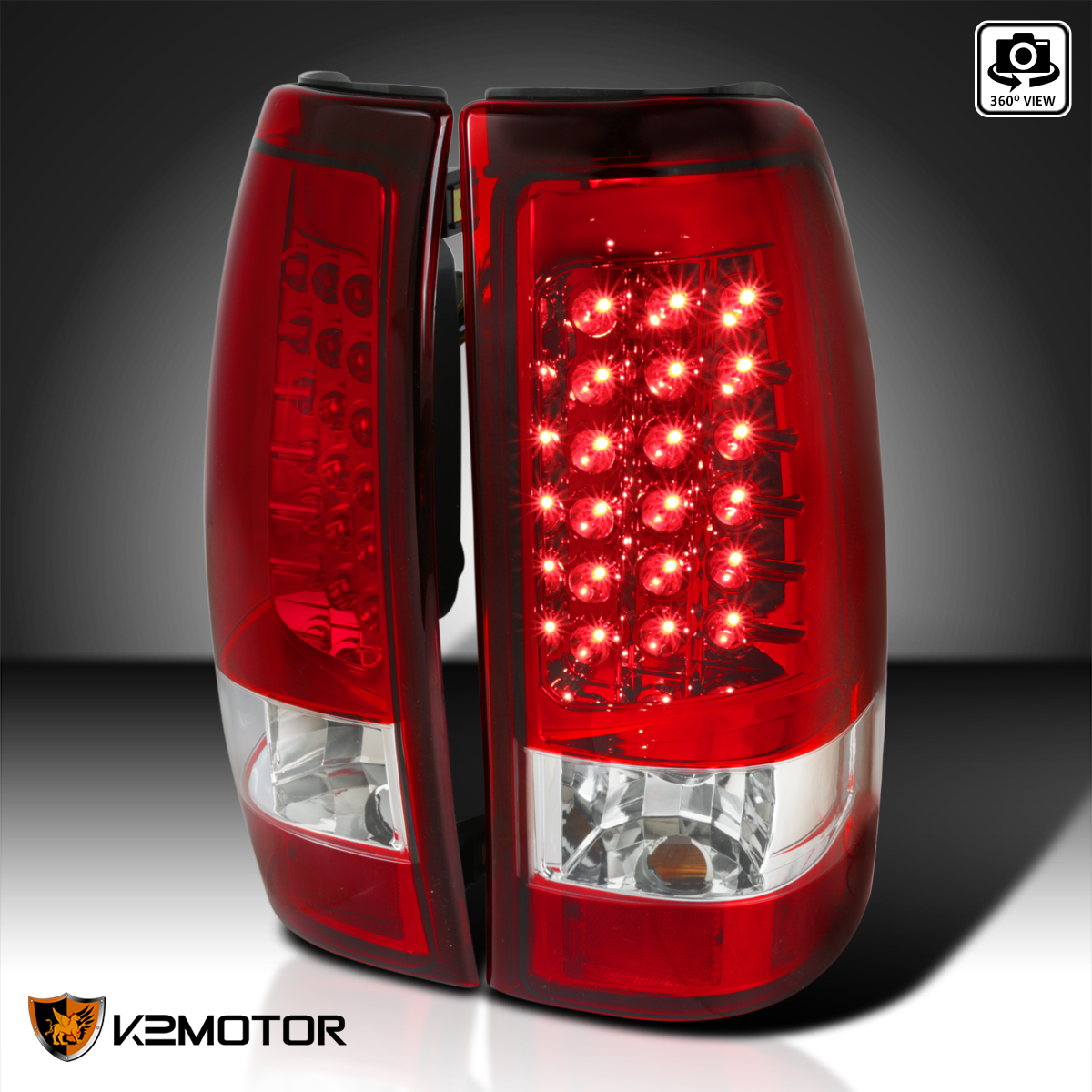 19992002 Chevy Silverado LED Tail Lights Lamps Red Set | eBay