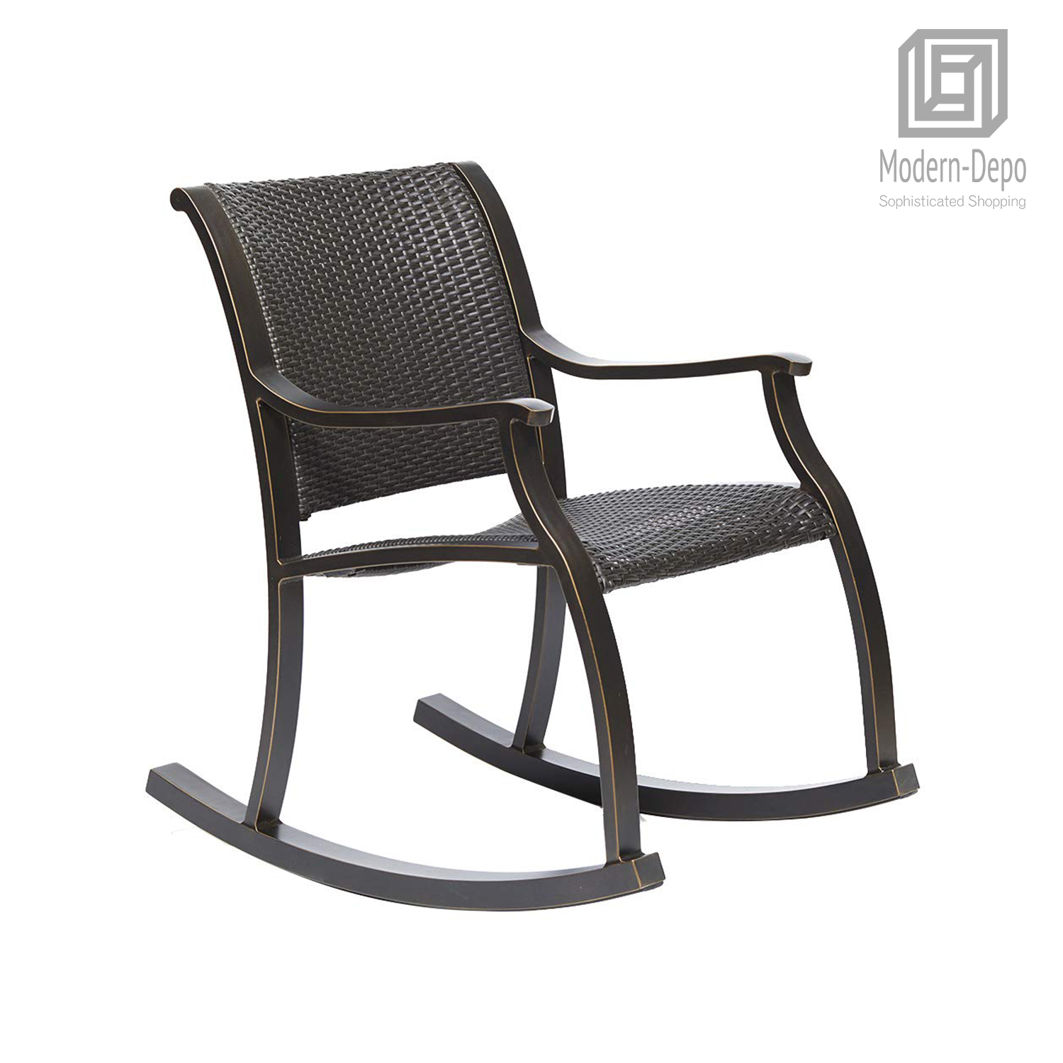 Black Wicker Rocking Chairs Details About Rattan Rocker Chair Weather Resistant Rocking Armchair Outdoor Patio Chair