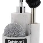 Cuisinart Round Kitchen Soap Dispenser With Sponge Holder And Brush Holder Ebay