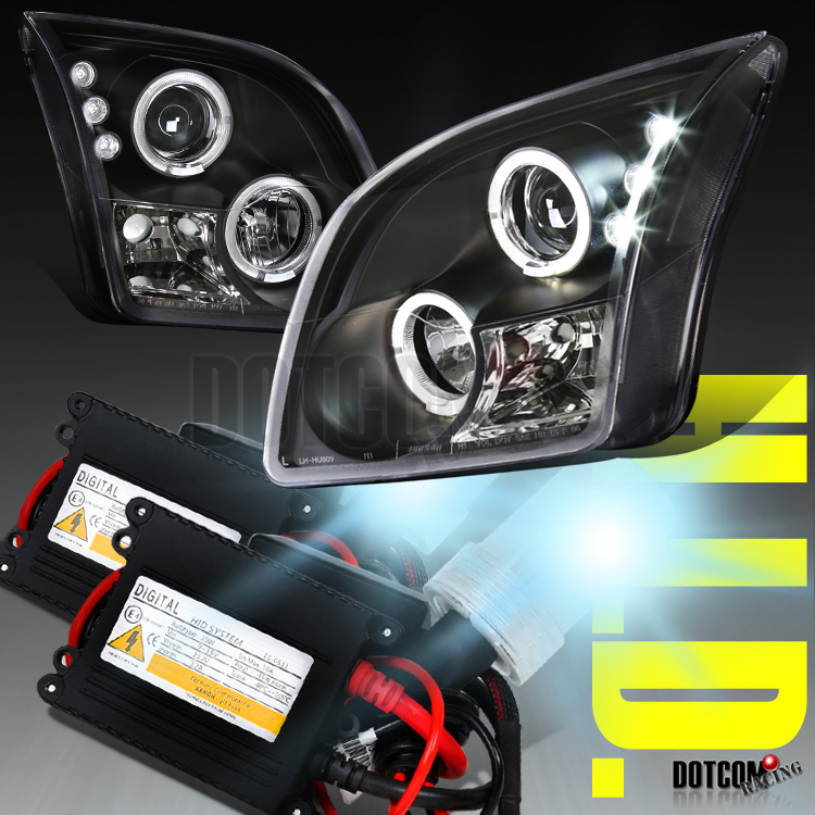 20062009 Ford Fusion Halo Black Projector Headlights