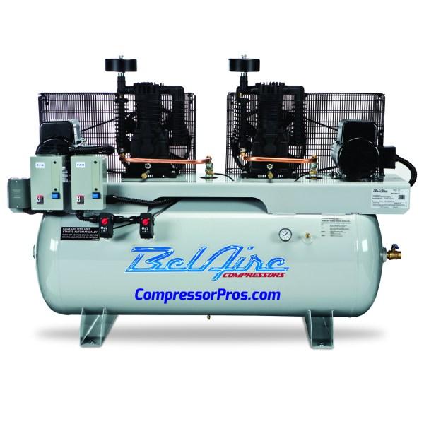 Belaire 4312dl4 460-volt 2x7.5-hp 120-gallon Duplex Electric Air Compressor