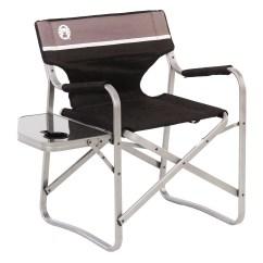 Coleman Portable Deck Chair Hair Cutting 2000020293 Aluminum Flip Up Cushion W Side Table