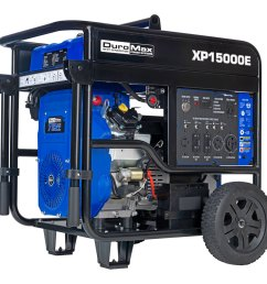 details about duromax xp15000e 15000 watt v twin gas powered electric start portable generator [ 1170 x 1170 Pixel ]