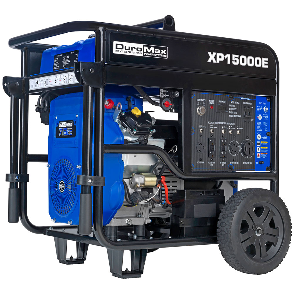 hight resolution of details about duromax xp15000e 15000 watt v twin gas powered electric start portable generator