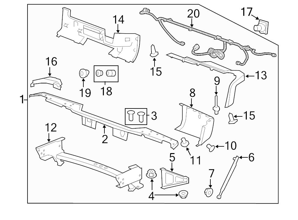 BRAND NEW GENUINE GM OEM TRAILER TOW HARNESS CONNECTOR