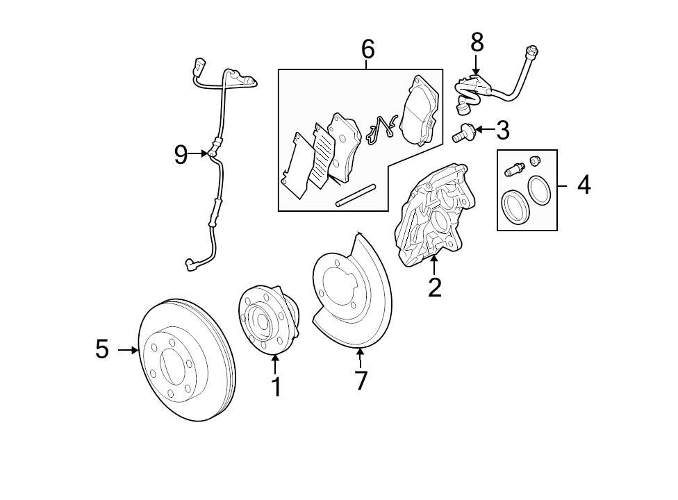 Brand New Genuine OEM ABS Wheel Speed Sensor Kit 2006-2008