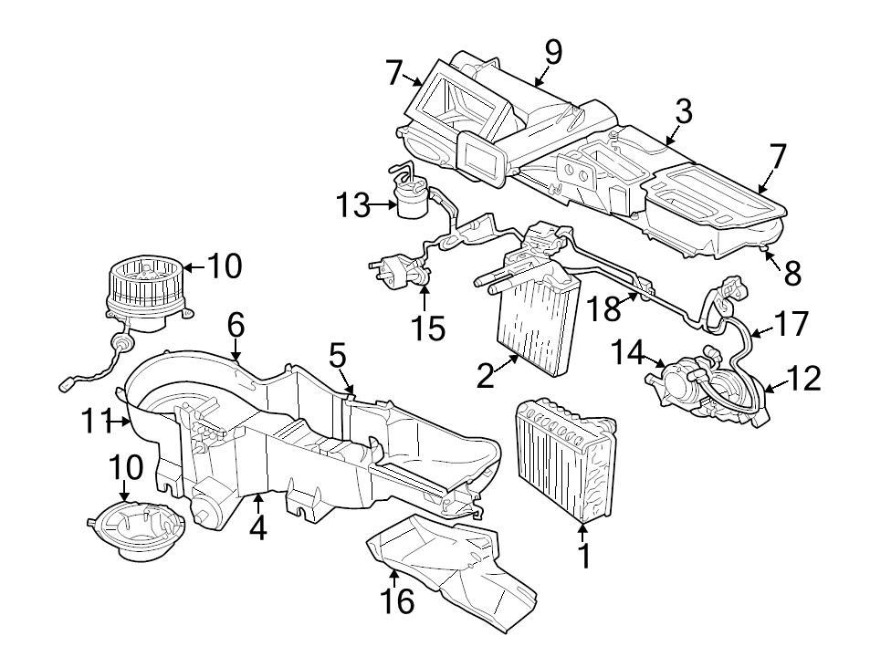 2003 Jeep Liberty Heater Core Location