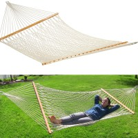"59"" Swing Outdoor Cotton Rope Double Hammock Bed 450lb ..."