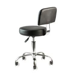 Chair Stool With Footrest Covers Kijiji Edmonton Pedicure Tattoo Black Adjustable Doctor