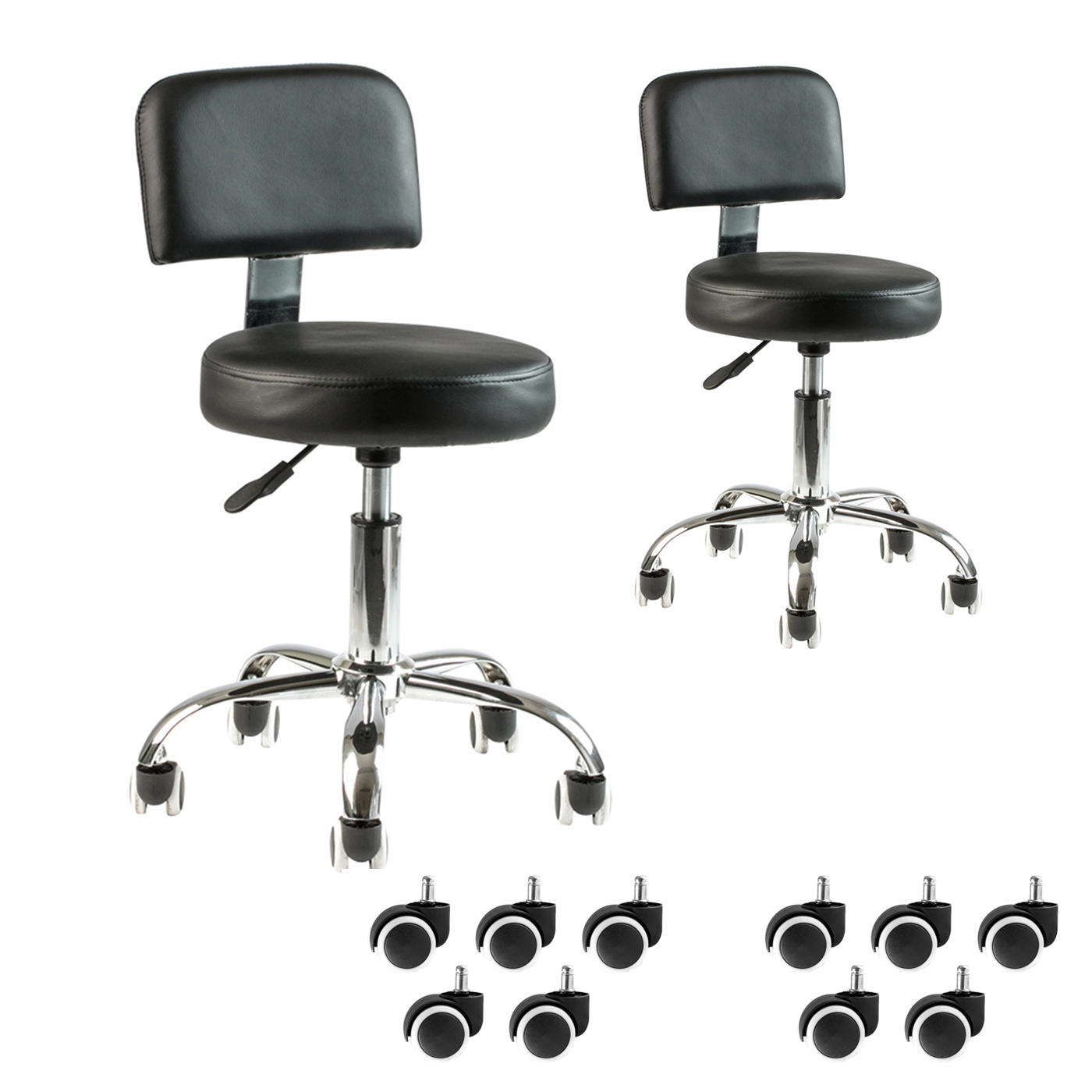 chair stool with footrest power companies 2 black pedicure tattoo adjustable doctor