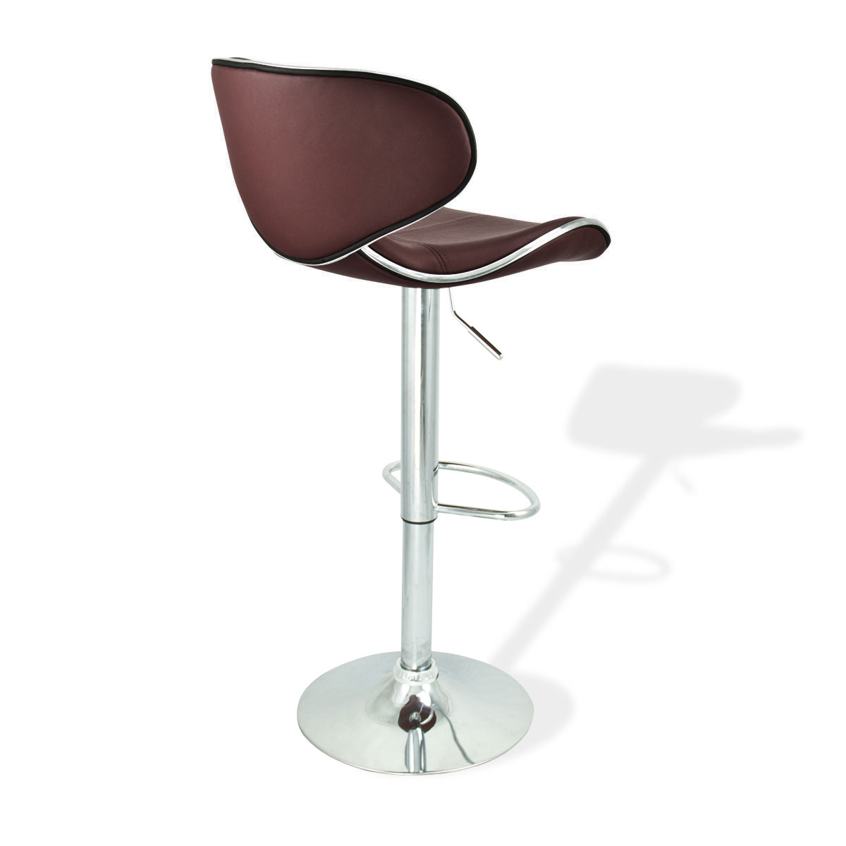 revolving chair with net ikea antilop high reviews 2 modern barstool swivel leather adjustable hydraulic