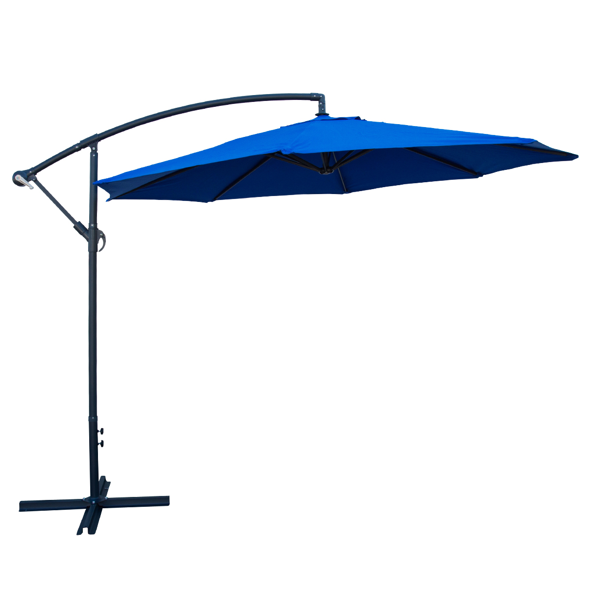 Deluxe 10 Feet Offset Umbrella Patio Off Set Tilt Side