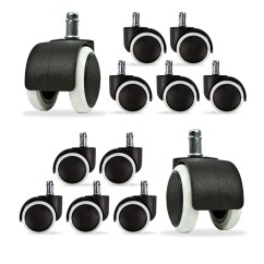 Replacement Casters For Office Chairs Next Home Chair Covers 10 Caster Wheel Swivel Rubber Floor Furniture