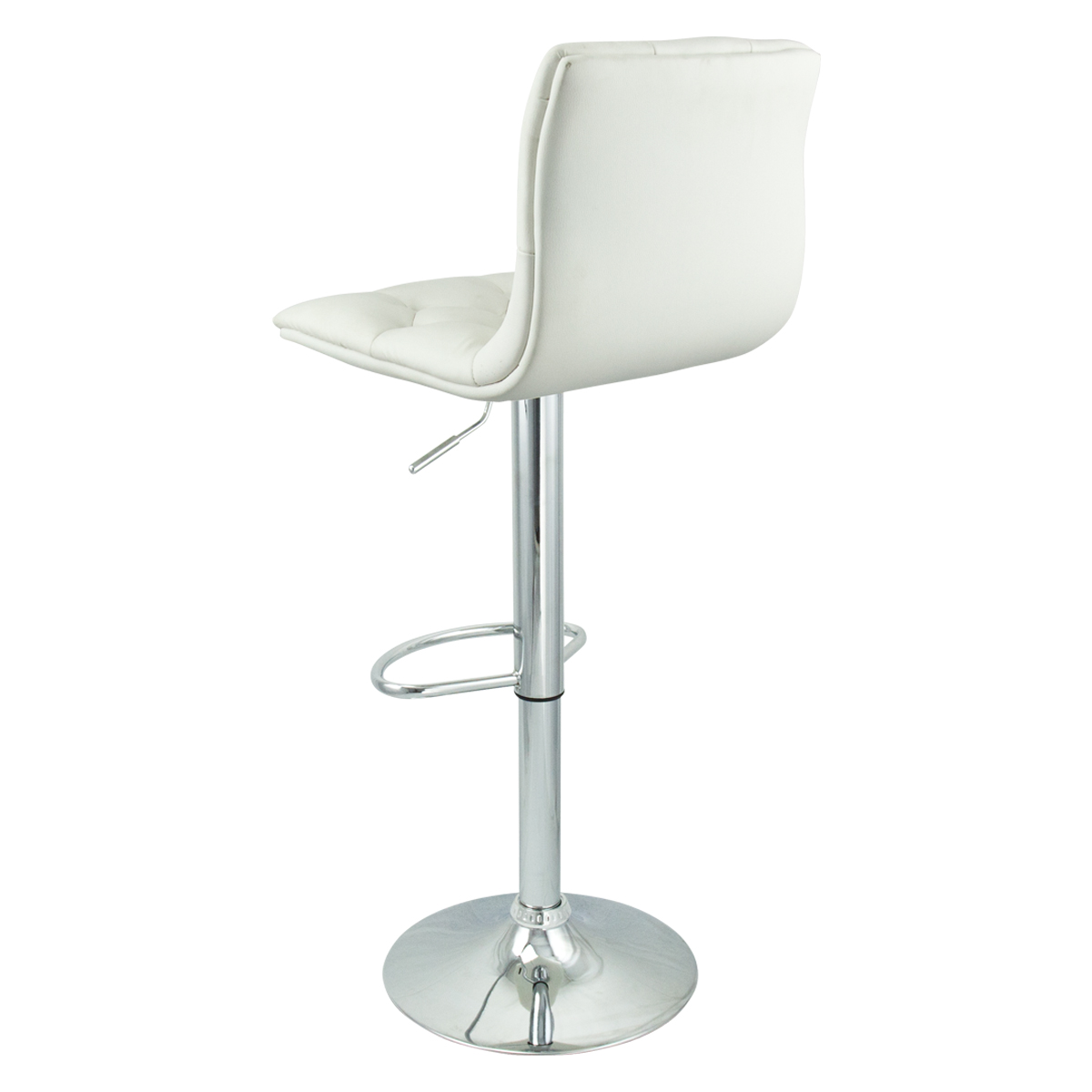 white leather bar chair two seater folding lawn 6 adjustable hydraulic barstool swivel stool