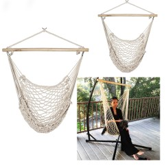 Hanging Chair Rope Armless Slipcovers 2 Swing Hammock Porch Cotton Patio Garden Air