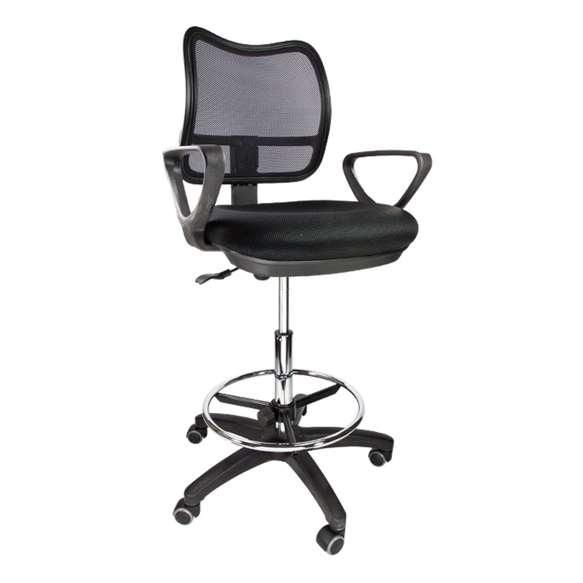 Adjustable Drafting Chair 2 Drafting Chair Stool Armrest Ergonomic Mesh Adjustable