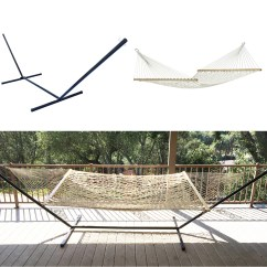 Rope Chair Swing Stand Baby Shower Chairs Ideas Outdoor Cotton Double Bed Hammock 43 Metal
