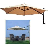 10' Patio Umbrella Wall Mount Offset Garden Outdoor Sun ...