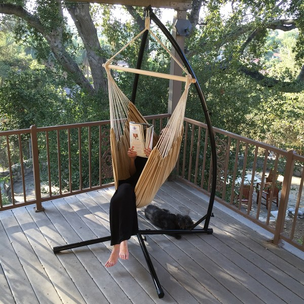 Hammock -frame Steel Stand Cotton Rope Chair Cradle Air Porch Swing Frame