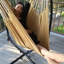 Air Chair Frame Cover Rentals Birmingham C Hammock Steel Stand Porch Swing Cotton