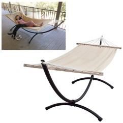 Steel Hammock Chair Stand Purple Recliner Chairs Heavy Duty Tri Beam Outdoor Patio Free