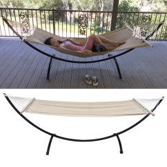 Steel Hammock Chair Stand Fuzzy Office Heavy Duty Tri Beam Outdoor Patio