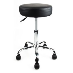 Beauty Salon Chairs Images Drexel Heritage Black Rubber Wheel Spa Tattoo Stool Equipment