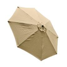 9 Ft 8 Ribs Replacement Umbrella Cover Canopy Tan Top