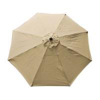 9 FT 8 Ribs Replacement Umbrella Cover Canopy Tan Top ...