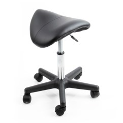 United Chair Medical Stool Exercise Office Black Saddle Salon Beauty Wide Facial