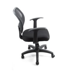Padded Office Chair Heated Vibrating Cushions 6 Mid Back Black Fabric Mesh Home