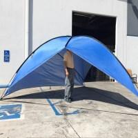 Blue Portable Sun Shade Shelter Cabana Beach Tent Outdoor ...
