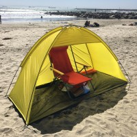 Yellow 2 person Pop Up Cabana Beach Shelter Baby Tent Sun