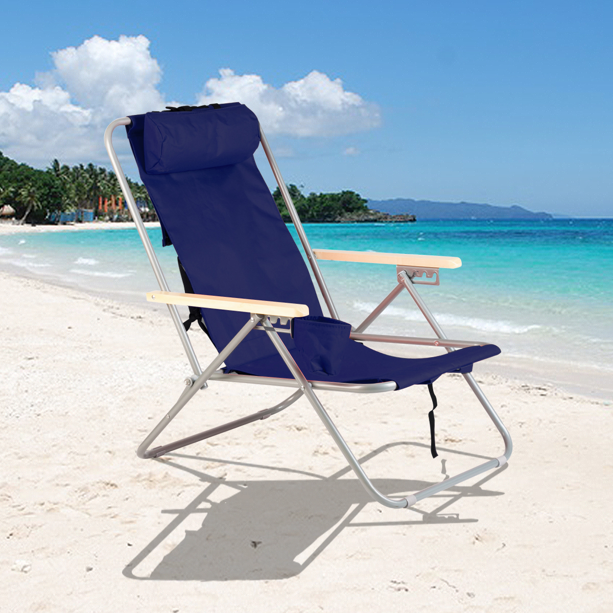 Best Backpack Beach Chair Blue Backpack Beach Chair Folding Portable Chair Solid
