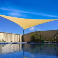 New Tan Sun Shade Sail Outdoor Triangle Canopy Cover Pool ...