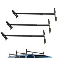3pc Cargo Van Ladder Roof Rack Gutter Mount Contractor 750 ...