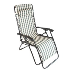 Folding Outdoor Lounge Chair Cowhide Chairs Modern 2 Stripe Zero Gravity Recliner