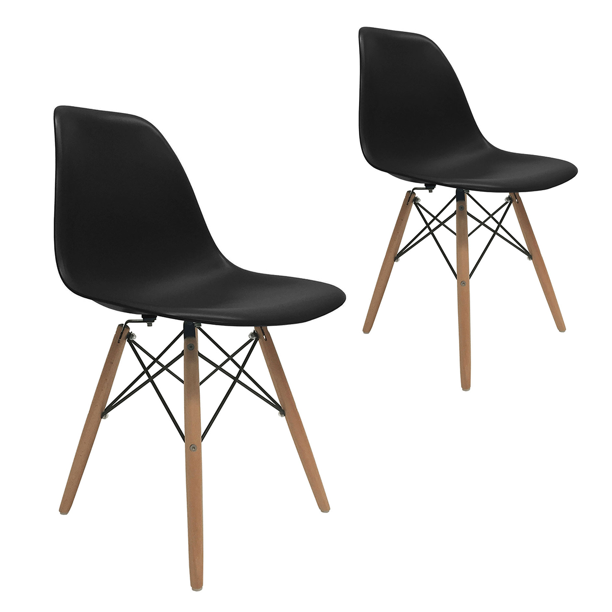 eames molded wood side chair kids table with 4 chairs set of 2 dsw dining eiffel dowel leg