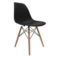 Mid Century Wood Eames Dsw Style Molded Plastic Side ...