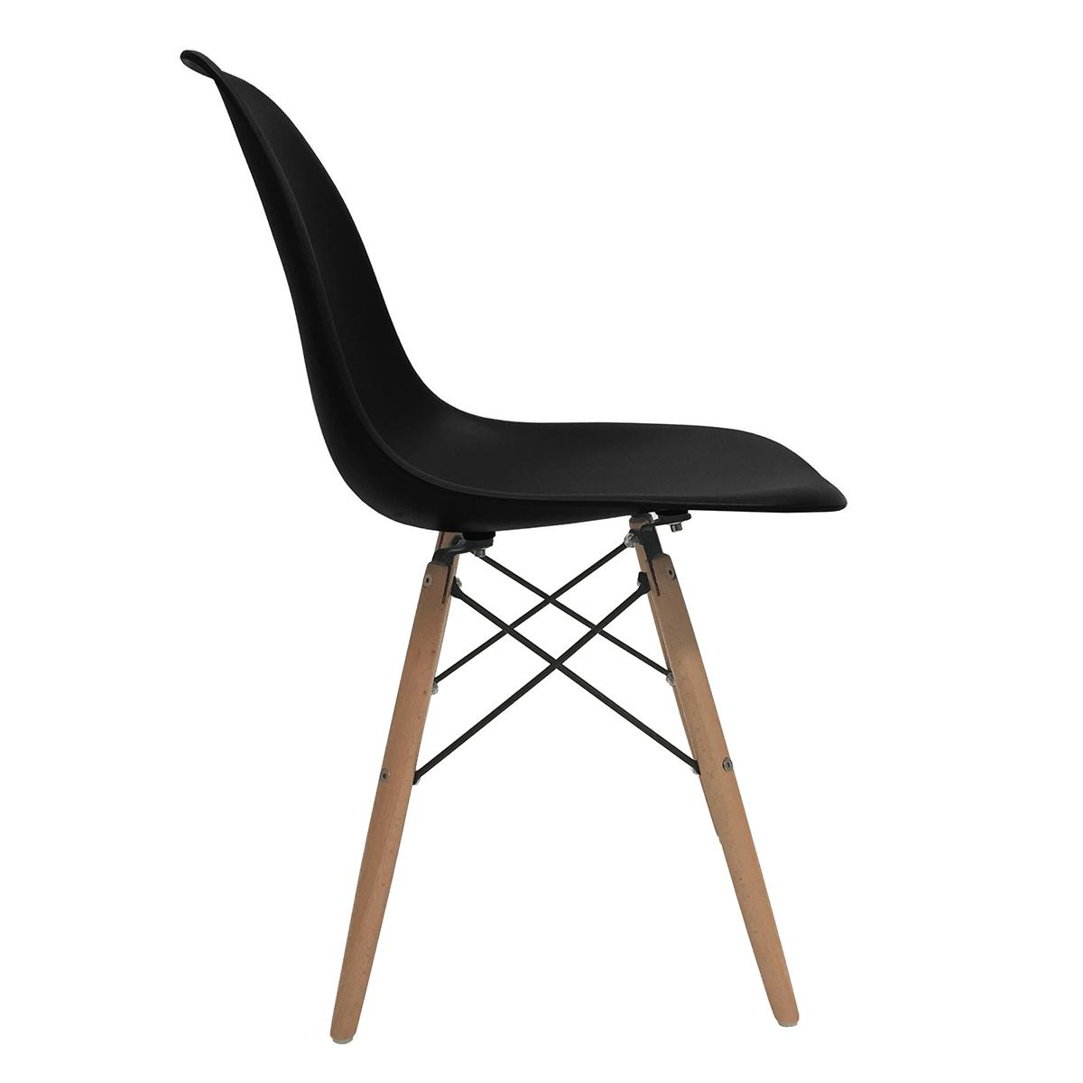 eames molded wood side chair high wooden set of 2 dsw dining eiffel dowel leg