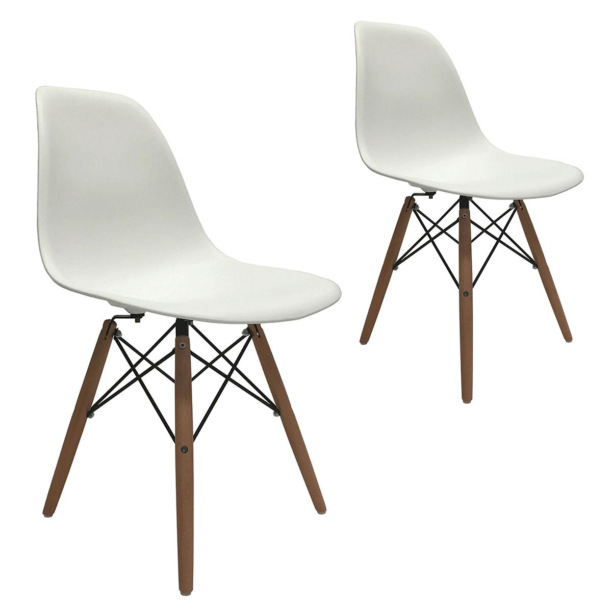 eames molded wood side chair henriksdal dining covers ikea set of 2 dsw eiffel dowel leg